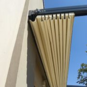 Retractable awnings are an ideal way to block sun and rain on a patio and deck without permanently altering a structure or erecting obstructive support poles. We offer a unique Retractable awning integrating LED lighting and motor integrated LED Lighting and motorized.