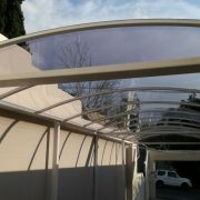 We have products like our Louvre Awnings, that are not guaranteed to be 100% waterproof. However, our new Retractable Design is expected to be waterproof; however, one must accept that awnings are additions to the existing structures and therefore we will assist our customers in securing a suitable design and solution.