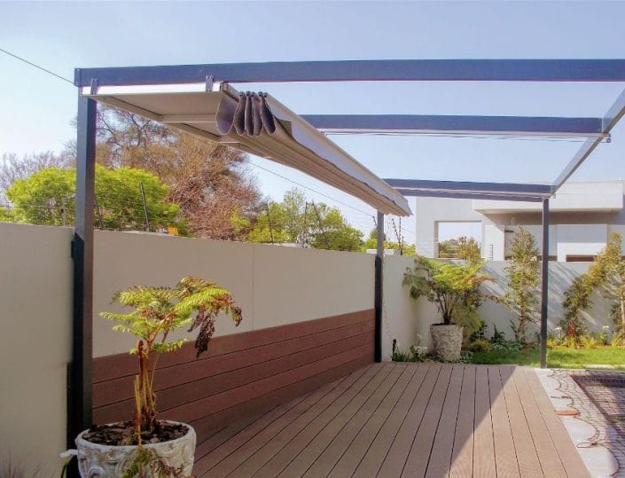retractable awnings non motorised is great for the pool side Wakis Ave