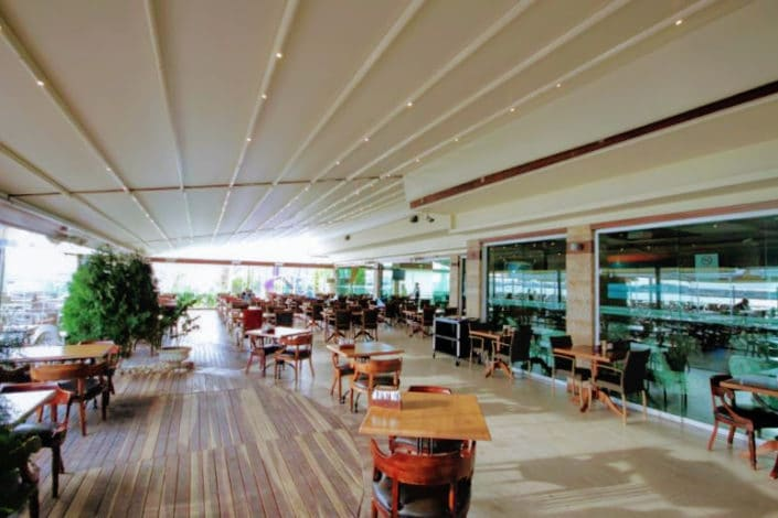Retractable Awnings for a common area