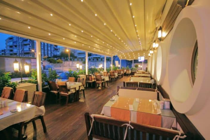 Retractable Awnings for a evening venue