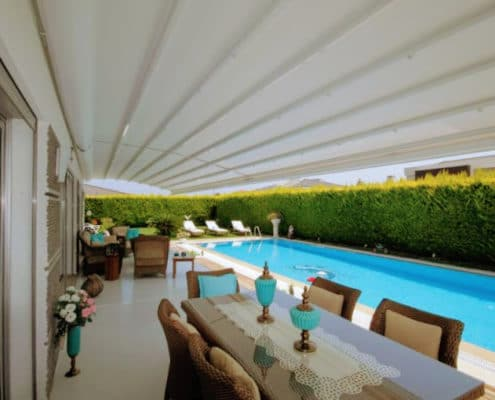 Take advantage of high-tech with touch-button control on your Retractable Awning