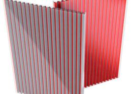 large kinetic polycarbonate lighting effects lamina